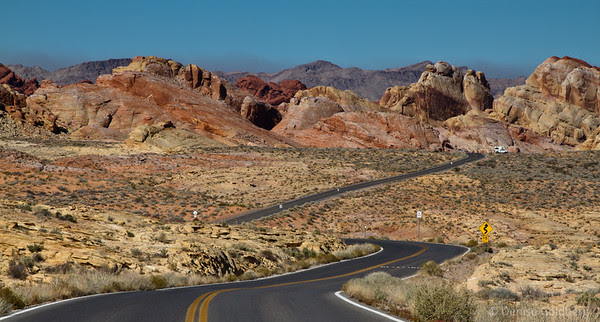 looking down the road, Valley of Fire State Park, Nevada