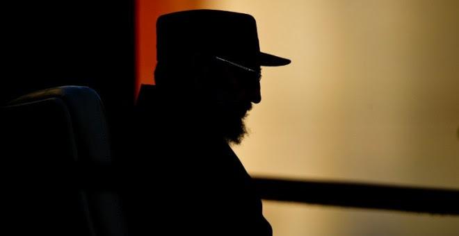 Foto de archivo del líder de la revolución cubana, Fidel Castro, de spetiembre de 2010, durante un discurso en la Universidad de la Habana. AFP/Adalberto Roque