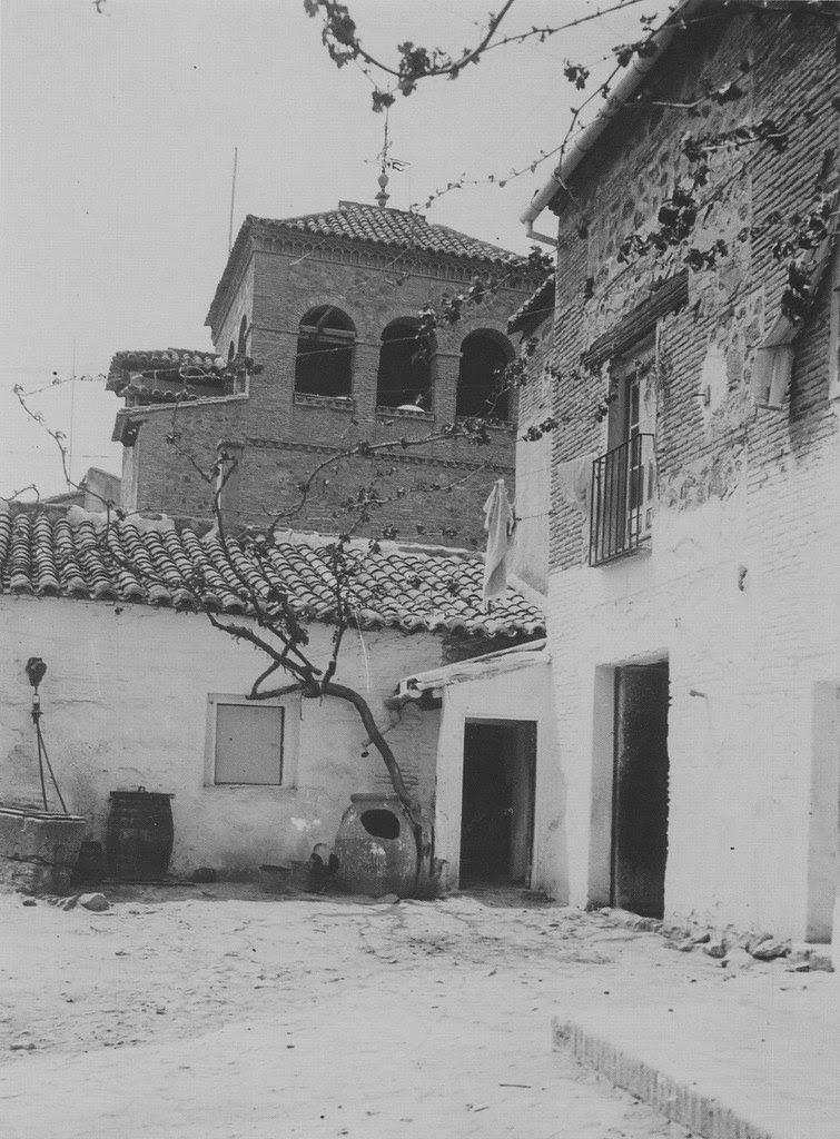 Patio de la Casa del Greco hacia 1915.Fotografía de Kurt Hielscher. The Hispanic Society of America