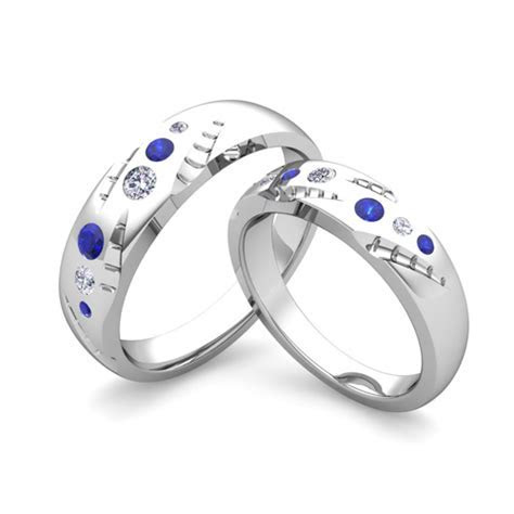 Create Unique Wedding Bands for Him and Her with Diamond