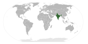 Location of the Republic of India.