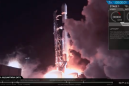 SpaceX launches moon lander, lands booster despite tough conditions