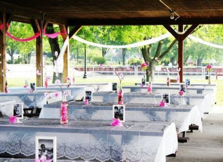 Table Picnic Pavilion Wedding Decorating Ideas, , Park