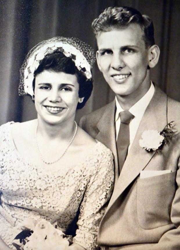 Imagem de arquivo do casamento de Ed e Floreen Hale (Foto: Divulgação/Orleans Hub)