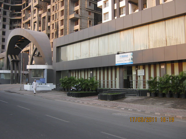 Sales Office and the main entrance of Pethkar Projects' Samrajya, Shivtirthnagar, Paud Road, Kothrud, Pune 411 038