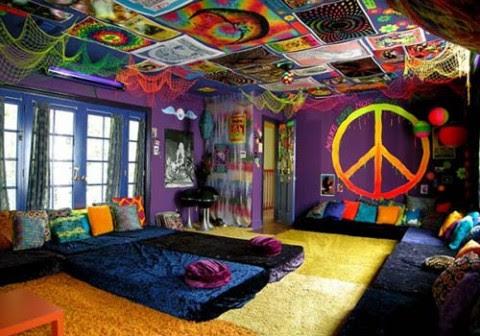 Estilo retro una colorida casa de playa5