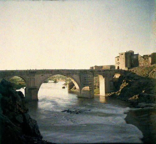 Puente de San Martín (Toledo). Autocromo tomado hacia 1913
