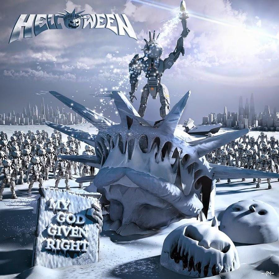 Helloween - My God given right. Abóbora na estátua da liberdade