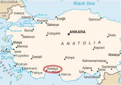 Türkische Riviera Karte.Lara Türkei Karte Karte