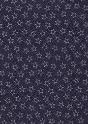 Navy Patriotic Quilt back-quilt back 108 wide navy stars white