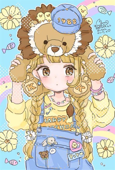 lion girl art  manamoko manamoko pastel paradise