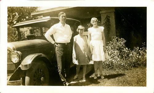 Three with car