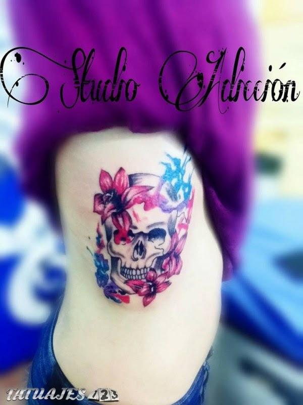 Calavera Acuarela Tatuajes 123
