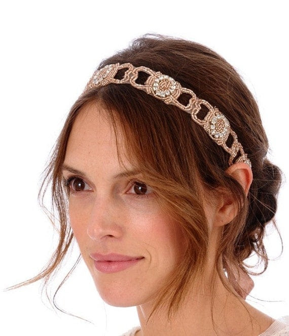 095 - ANGELICA Headband -  bridal, comb, rhinestone, crystal, veil, brooch, wedding, tiara, head piece, Swarovski