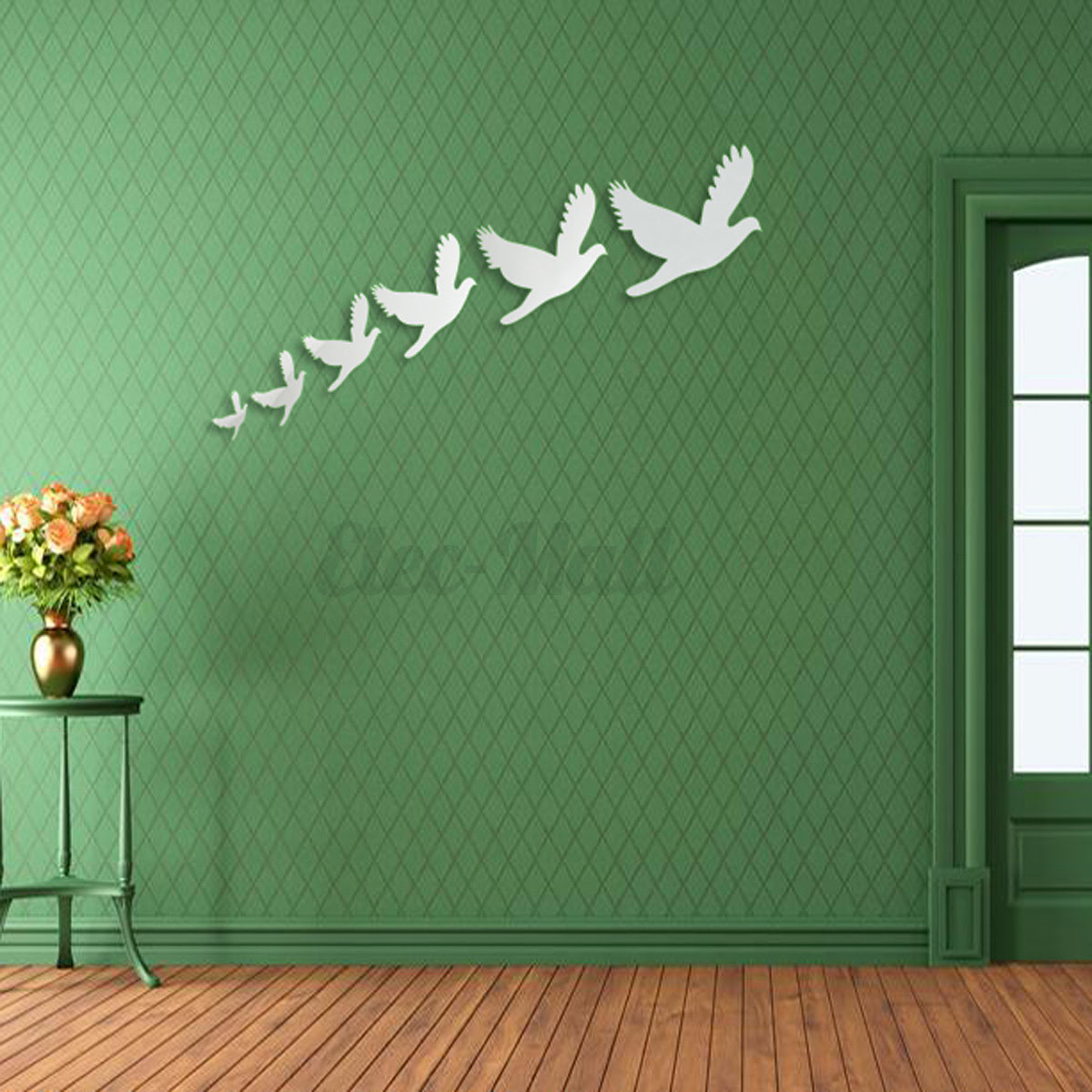 Removable DIY 3D Mirror Surface Wall Stickers Mural Art Living Room Home Decor  eBay