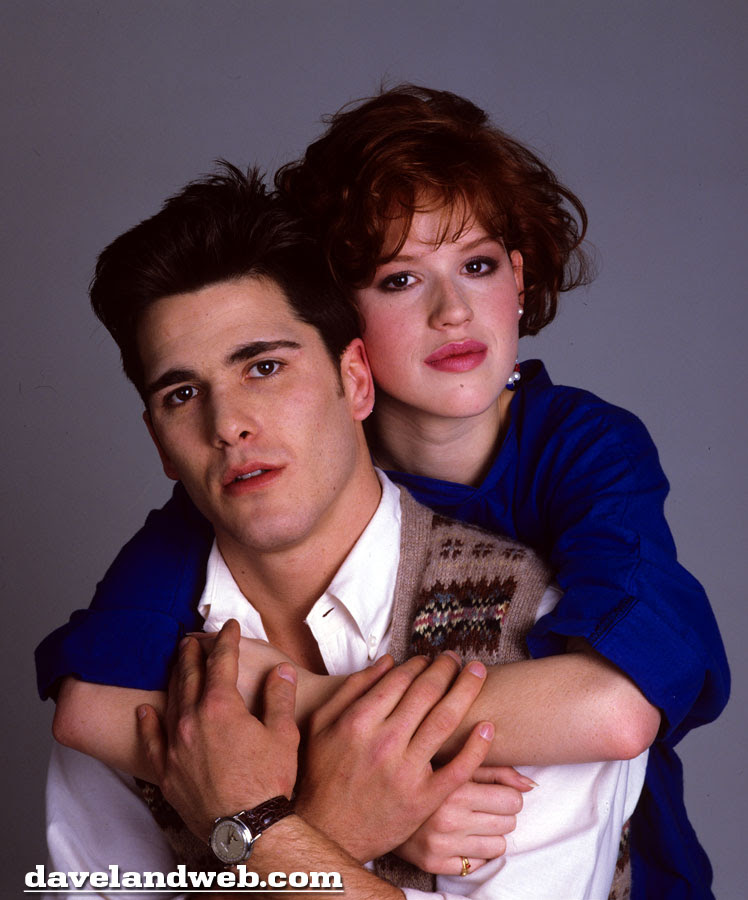 Samantha and Jake played by Molly Ringwald and Michael Schoeffling in 1983's Sixteen Candles photo