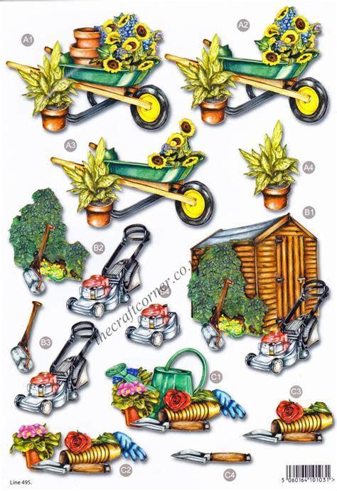 Garden Shed Die Cut 3d Decoupage Sheet