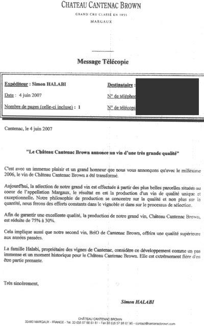 Simon Halabi about Cantenac Brown 2006