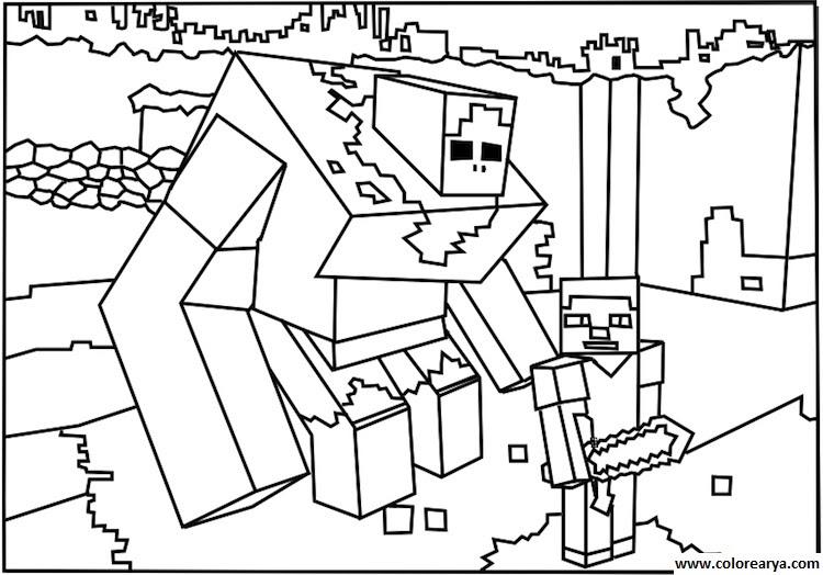 Imágenes Para Colorear De Minecraft Imagui