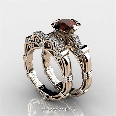Chocolate Diamond Engagement Rings Sets   Caymancode