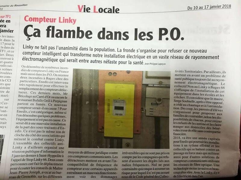 """Résultat de recherche d'images pour """"incendie du compteur linky"""""""