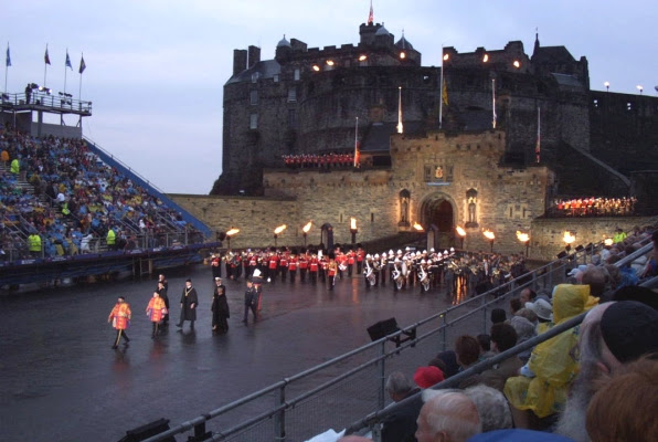 Opening ceremonies, Scotland Military Tattoo, Edinburgh Castle, August 2002