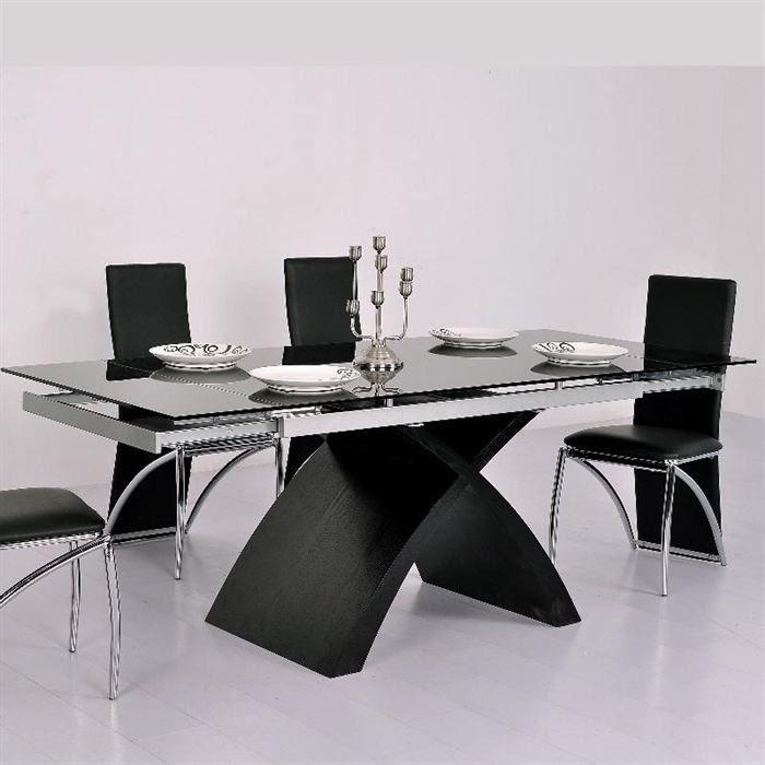 Meuble Cuisine Table Table En Verre Noire
