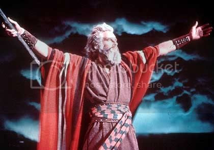 Heston as Moses in The Ten Commandments