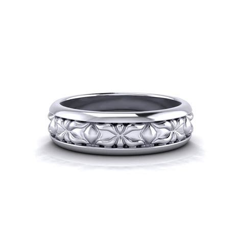 Sculpted Men?s Wedding Ring   Jewelry Designs