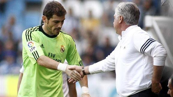 Ancelotti con Casillas