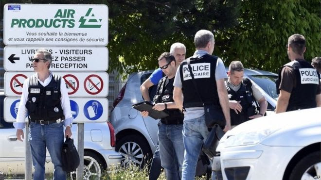 France Beheading ISIS attack as man is found decapitated outside factory in Saint-Quentin-Fallavier