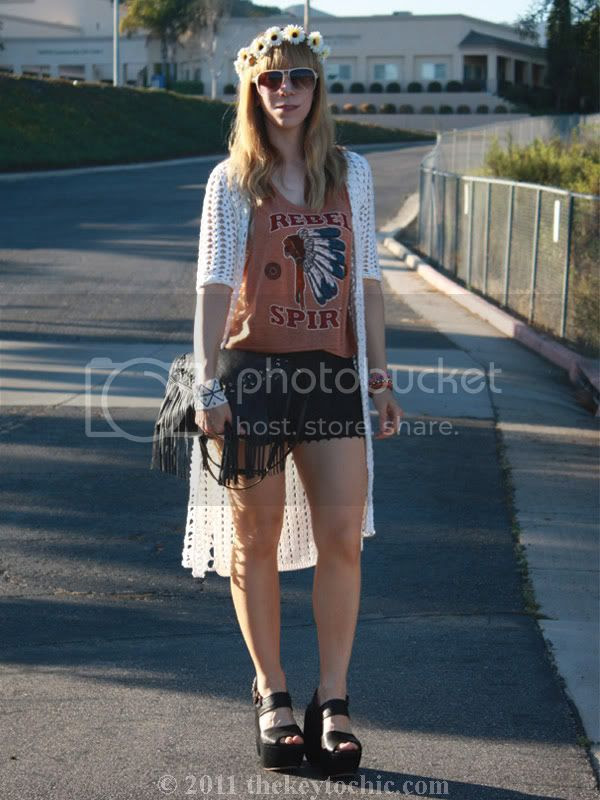 California street style, maxi crochet cardigan, lace shorts