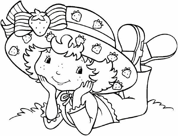 Strawberry Shortcake Coloring Pages Crafts And Worksheets For