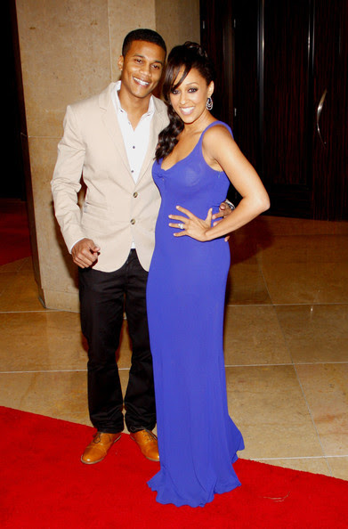 Tia Mowry and Cory Hardrict attending the 37th Annual Gracie Awards Gala held at the Beverly Hilton Hotel in Los Angeles.