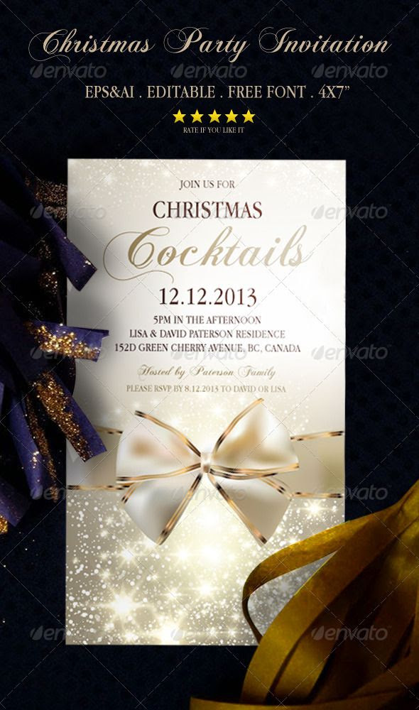 Christmas Party Invitation 1 | Christmas parties, Fonts and Scripts