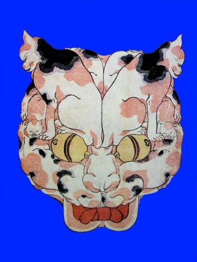 Kuniyoshi_cat_head_made_of_cats5