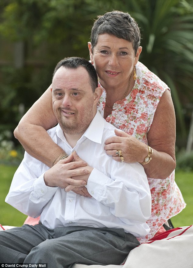 Worried about the future: Gillian, 69, with her son, Stephen, who has Down's Syndrome