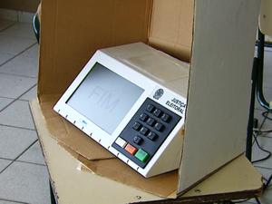 Urna eletrônica (Foto: Reprodução/ EPTV)