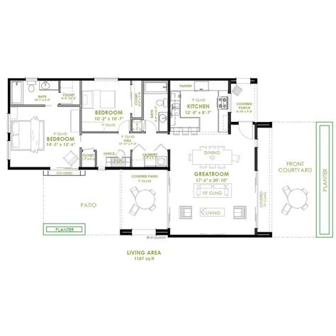 modern  bedroom house plan secondary income bedroom