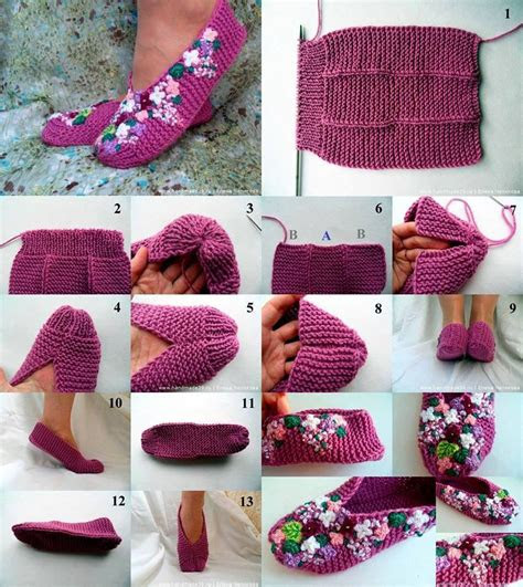 diy homemade lilac slippers find fun art projects