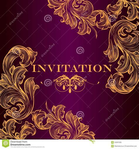Luxury Royal Invitation Card For Design Royalty Free Stock