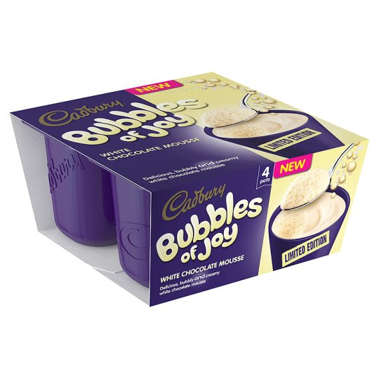 Cadbury Bubbles Of Joy Limited Edition 4 X 45G