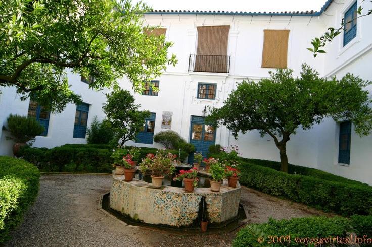 Bassin et cour du patio del Archivo, Palacio De Viana , Cordoba, España, Andalucia