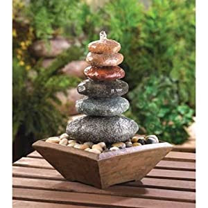 Amazon.com: Gift & Decor Zen Stacked Multi-Color Stones Rocks ...
