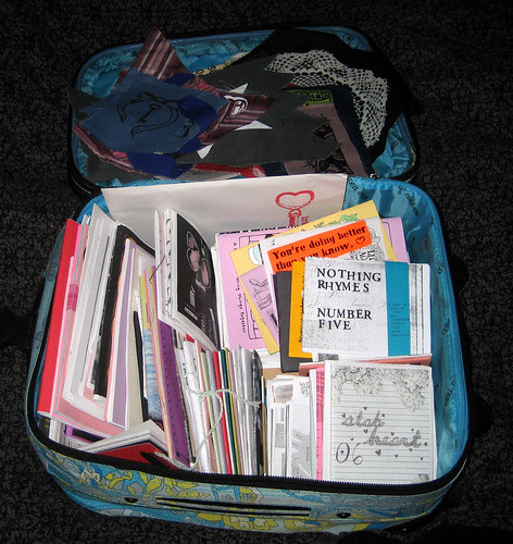 zine suitcase