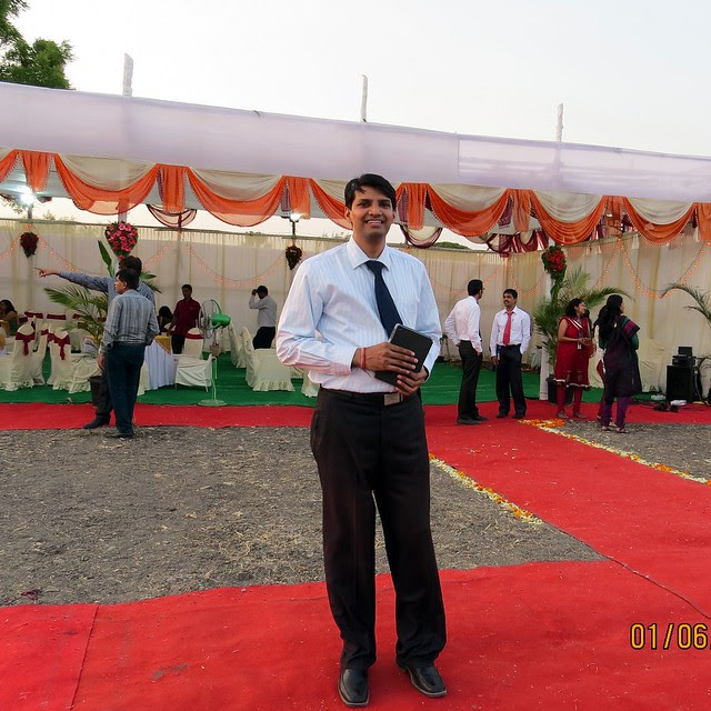 Jitendra Pethkar at Pethkar Projects' Punawale Site