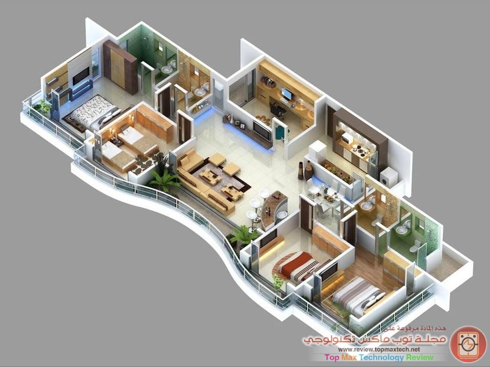 spacious flat