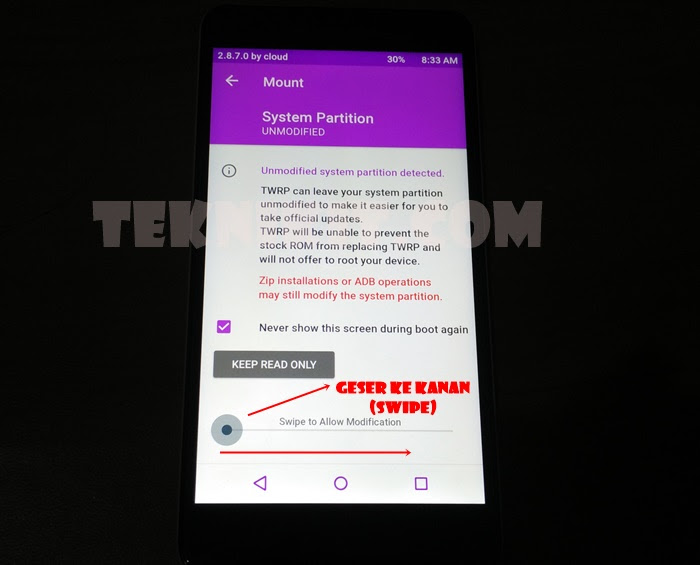 Masuk TWRP Redmi Note 2