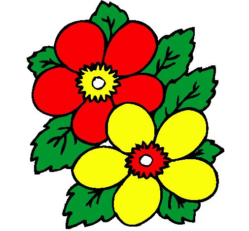 Dibujo De Flores Pintado Por Yada En Dibujosnet El Día 13 01 11 A