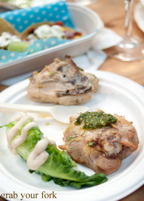 Burrawong chicken with chimichurri by Shannon Debreceny, Three Blue Ducks at the Rootstock Sydney 2014 Night Festival